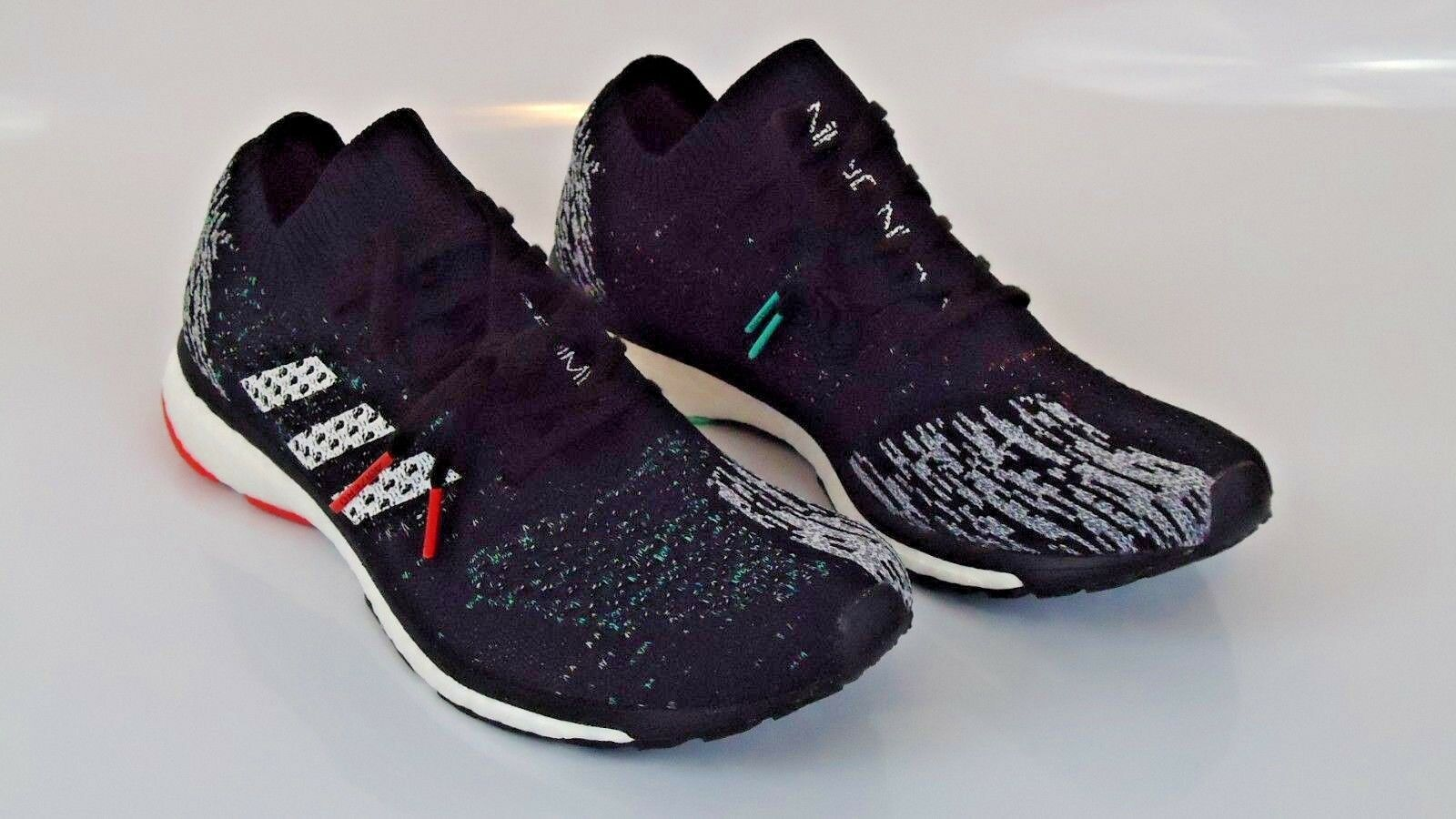 New Uomo Adidas Adizero Prime Boost LTD Core Nero White Grey Size 10.5 CP8922