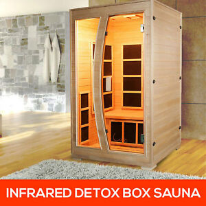 Brand-New-Luxo-Valo-2-Person-Canadian-Hemlock-Carbon-Fibre-Far-Sauna-Cabin