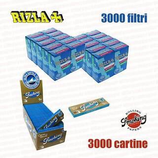 4500 FILTRI RIZLA SLIM 6mm 6000 CARTINE SMOKING BROWN CORTE