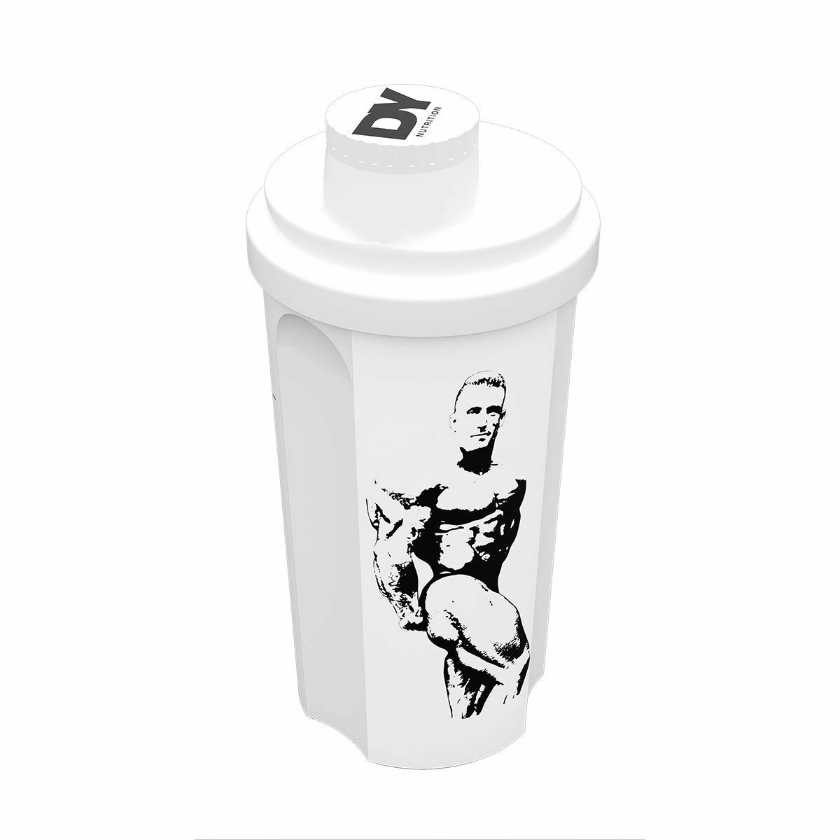 Image 4 - Dorian Yates Signature Shaker Cup DY Nutrition shaker 3 sided design in 2 colour