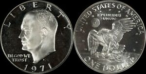 1971-S-PCGS-PR69-Eisenhower-Ike-Old-Large-Silver-Dollar-US-Type-Coin-Deep-Cameo