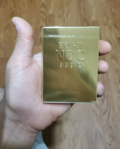 Gold Fort Noc .999 Limited Edition Custom Playing Cards Sealed anyone fontaine