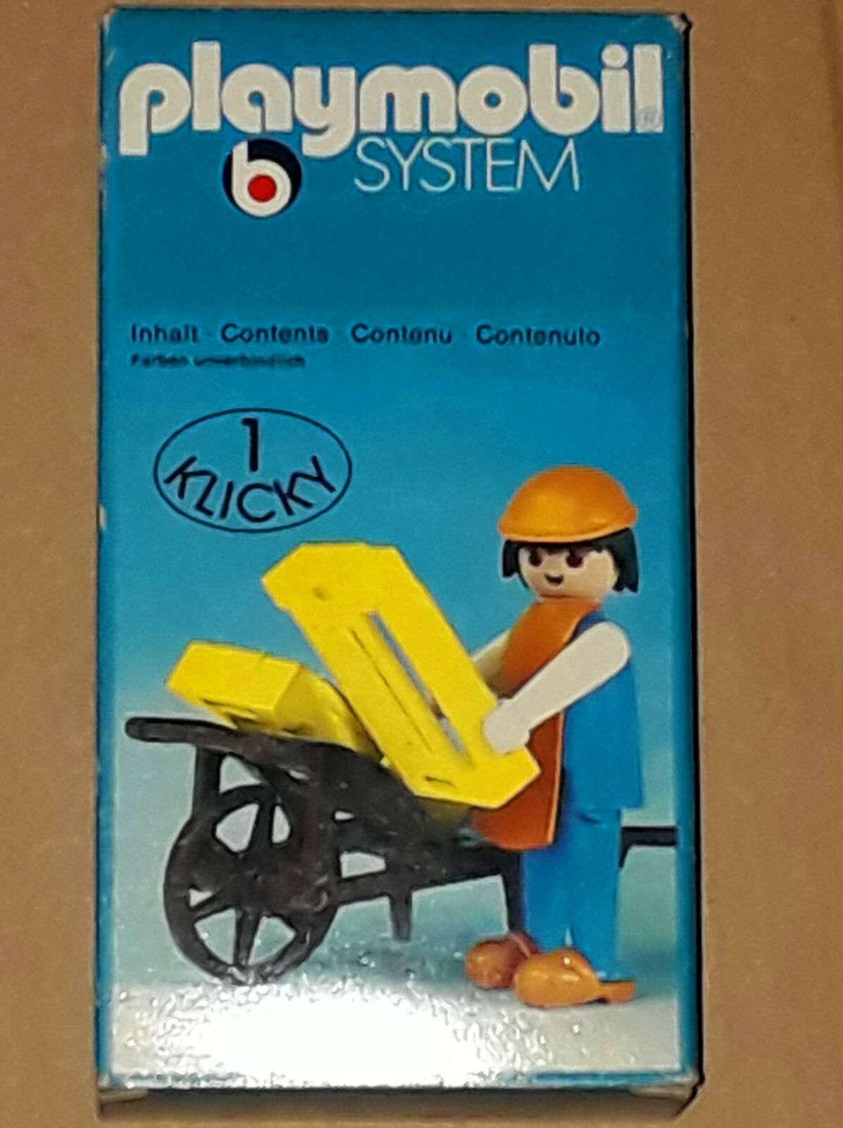 Vintage 70's Playmobil Klicky System 3369 Medieval Farmer New MISB Storestock