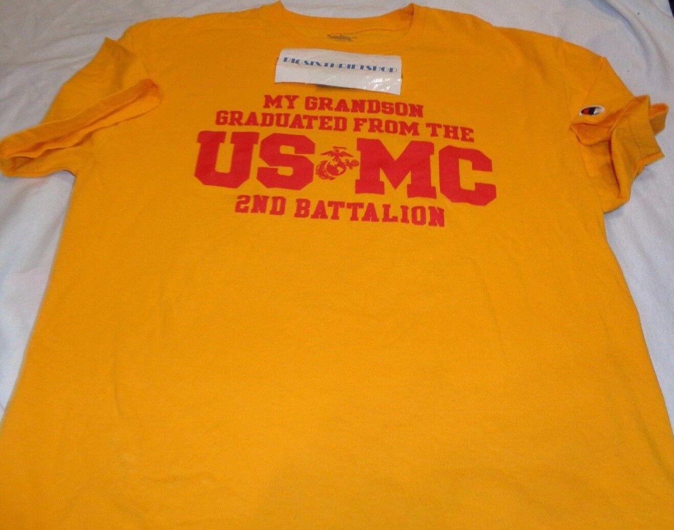 USMC Marine Corps MCRD Parris Island 2nd Battalion Champion Shirt Adult Large