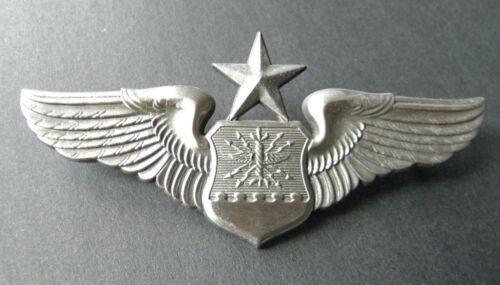 US AIR FORCE OFFICER SENIOR AIRCREW WINGS LAPEL JACKET PIN BADGE 3 INCHES