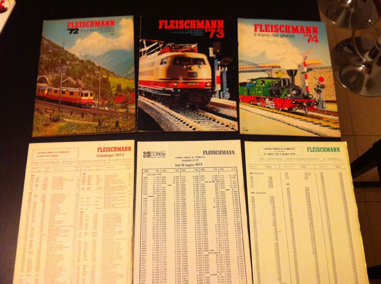 3 Catalogo FLEISCHMANN 1972 1973 1974  treni elettrici electric trains + listino