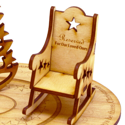 Christmas in Heaven mini Rocking Chair (chair only) MDF, MDF painted Gold or Ply