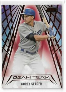 2018 Topps stadium club baseball red case hit beam team Corey Seager Los Angeles