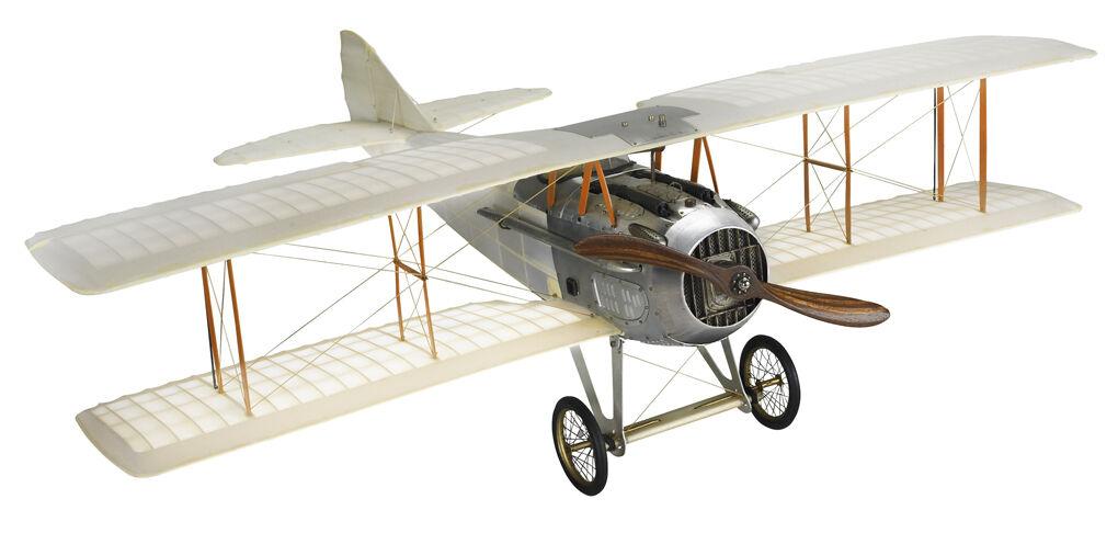 WWI Spad Transparent Biplane Hanging Airplane Wood Model 24  Home Decor AP413T