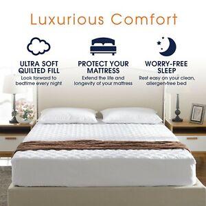 Hotel-Calidad-Impermeable-Acolchado-Protector-de-colchon-no-alergenico-Doble-King