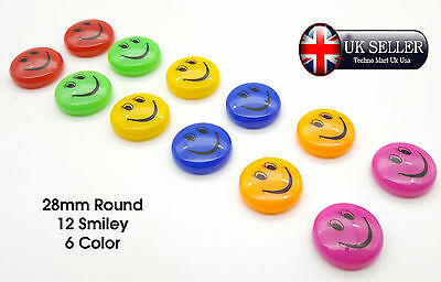 "6x LARGE 2/"" SMILEY FACE FRIDGE MAGNETS Magnetic Memo//Reminder//Note Children//Gift"