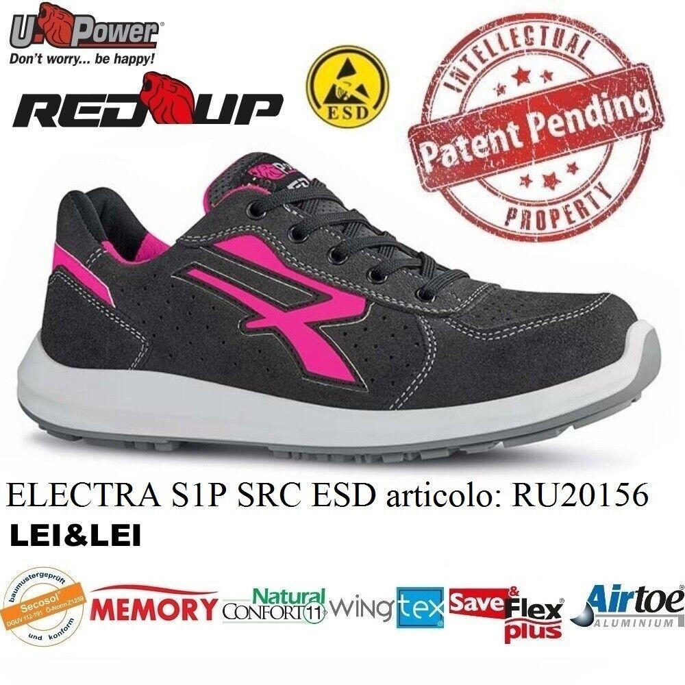 UPOWER chaussures femmes ANTINFORTUNISTICA ELECTRA S1P SRC ESD U-POWER RU20156 rouge UP