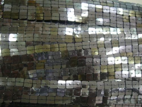 2MT GREY 3 ROW SQUARE SEQUIN TRIMMINGS,SEWING,FABRIC,CRAFTS,ART,WEDDING