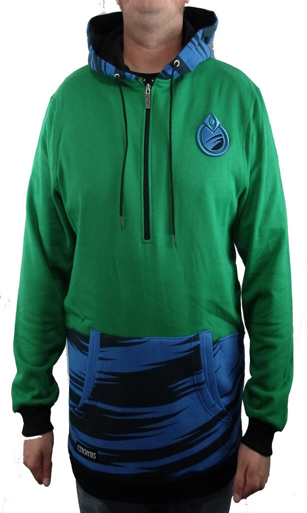 BRAND NEW WITH TAGS Nomis SIMON DOUBLE UP Hoodie Emerald Grün LARGE-XLT LIMITED