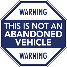 WARNING-THIS-IS-NOT-AN-ABANDONED-VEHICLE-sticker-vw-rat-80mm