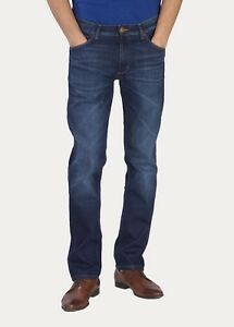 Details about Wrangler Greensboro For Real Modern Straight Stretch Men's Blue Jeans RRP £80