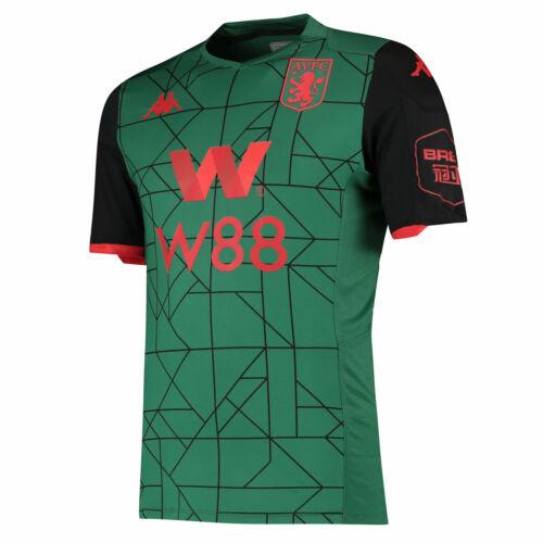 Aston Villa Third Shirt 2019-20 Homme v-cou à manches courtes