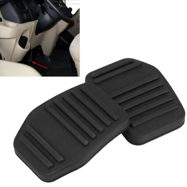 2x Clutch Brake Foot Pedal Rubber Pad Cover Car For Ford Transit Mk6 Mk7 00