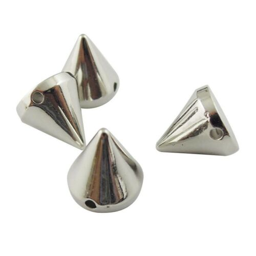 Mixed Bullet Cone Spike Acrylic Bead Punk Rivet Bracelet Spacer Beads Charms