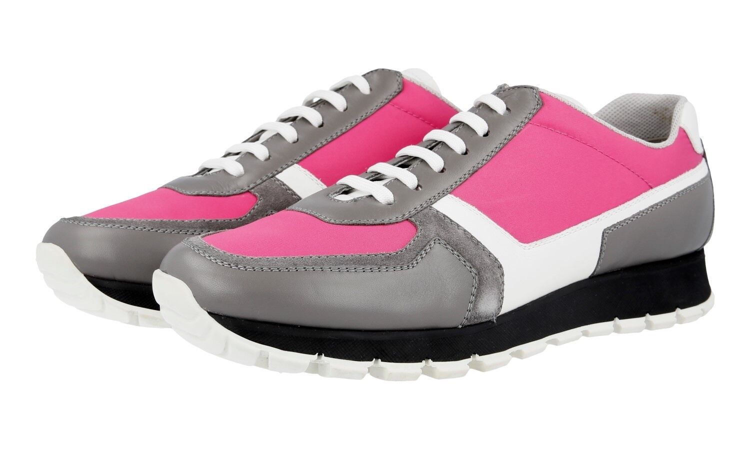 AUTH LUXURY PRADA SNEAKERS SHOES 3E6026 GREY PINK NEW US 11 EU 41 41,5 UK 8