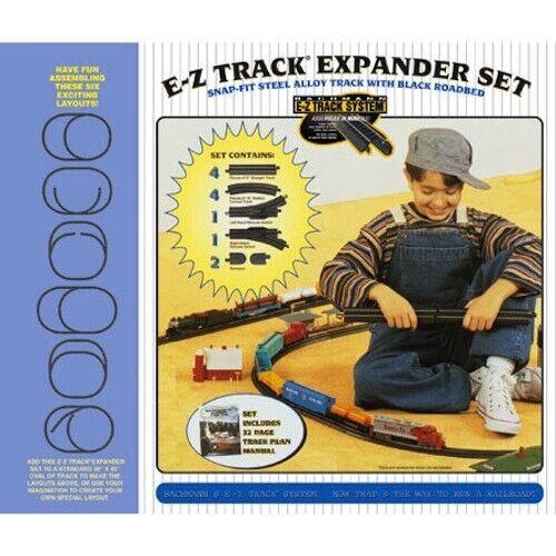 Bachmann BAC44494 Ho Escala Acero EZ Track Set Expansor de diseño (12 piezas) nero