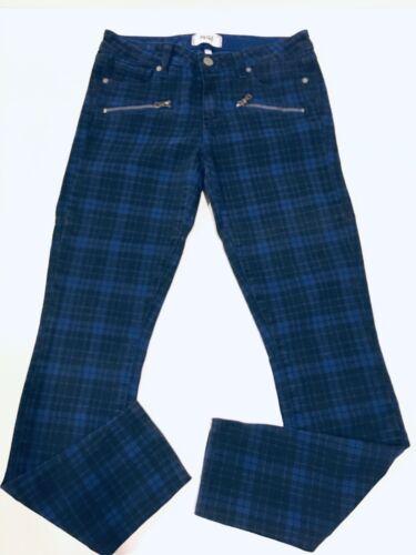 Blue ultra Canterbury 28 Jeans attillati Denim Zip bassa Nwt Paige Plaid vita a Indio TA5RwWqvUx