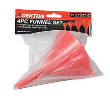100 /& 120mm Funnel Set 4pce Silverline 50 75