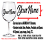 YOUR-TEXT-Vinyl-Decal-Wine-Glass-Sticker-Window-Bumper-CUSTOM-Personalized-Name thumbnail 2