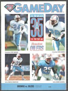Cleveland Browns Vs Houston Oilers Football Program 11 27 94 Ebay