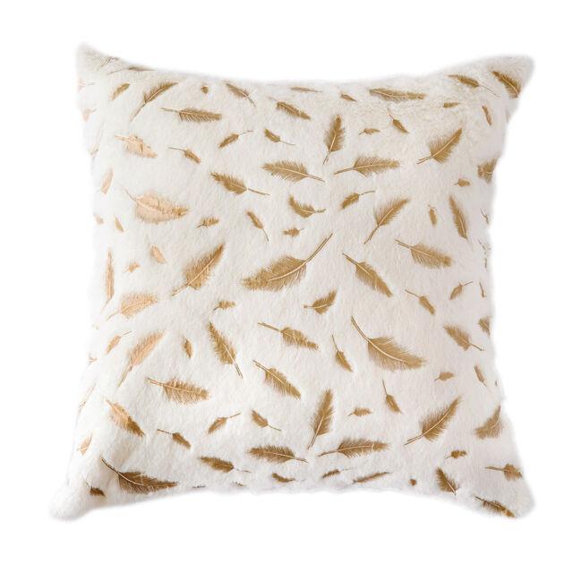 Black Fur Pillow Cover 18x18 Pillows Decor Fox Fur Pillowcase Cushion Case