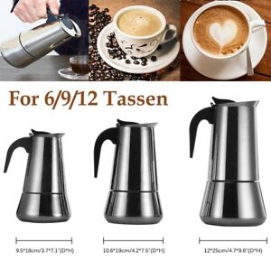 EDELSTAHL Espressokocher Espresso Maker 2 Tassen Espressokanne Kaffee