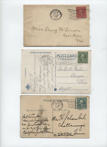 Three 1917-29 covers with Washington Frankin coils [L.401]