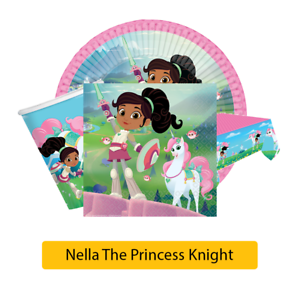 NELLA-The-PRINCESS-KNIGHT-Birthday-Party-Range-Tableware-Supplies-Decorations