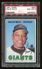 1967 Topps #200 Willie Mays *Giants* PSA 8 NM-MT #90579420