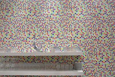 PASTE THE WALL RETRO MULTI COLOUR HEXA FEATURE WALLPAPER A.S.CREATION 7903-16