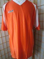 Mens Lotto Italian Sport Design Orange Essential Jersey Shirt Shirts L