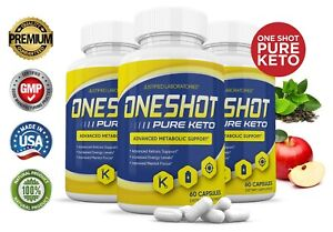 One Shot Pure Keto Pills Weight Loss Diet Pills BHB Ketogenic Supplement 3 Pack