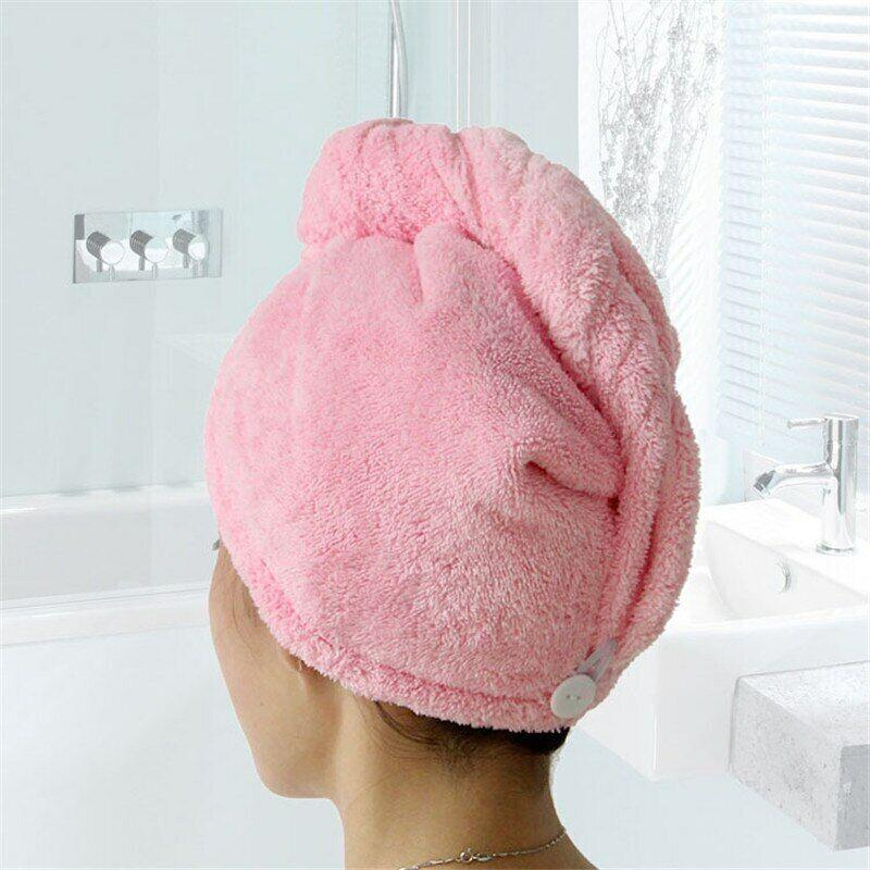 Hair Dry Cap Hot Sale Women Bathroom Towel Quick-drying Microfiber Bath Towel