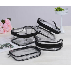 Waterproof-PVC-Zip-Pouch-Kit-Transparent-Clear-Travel-Cosmetic-Wash-Bag-Storage