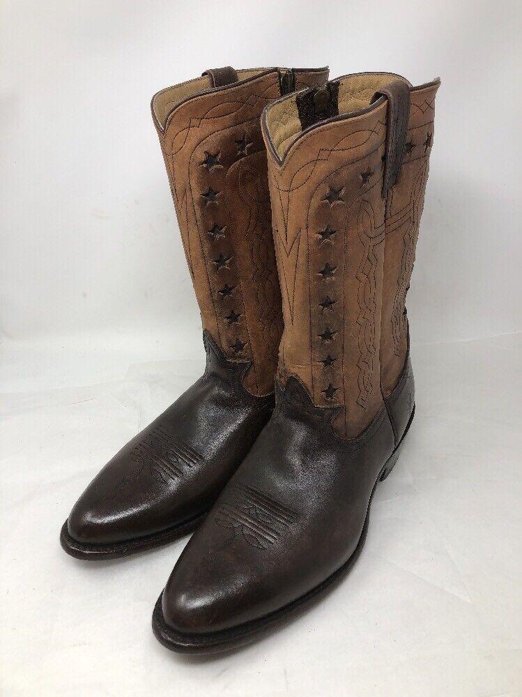 FRYE Wyatt Americana braun Leather Star Western Cowboy Mens Stiefel Größe 11 D