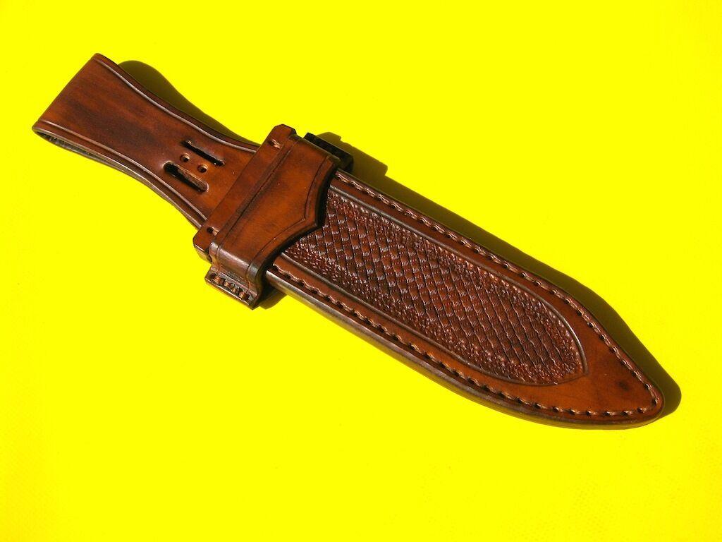 Wunderschöne Messerscheide  Echtes Leder  Handarbeit   Ansehen