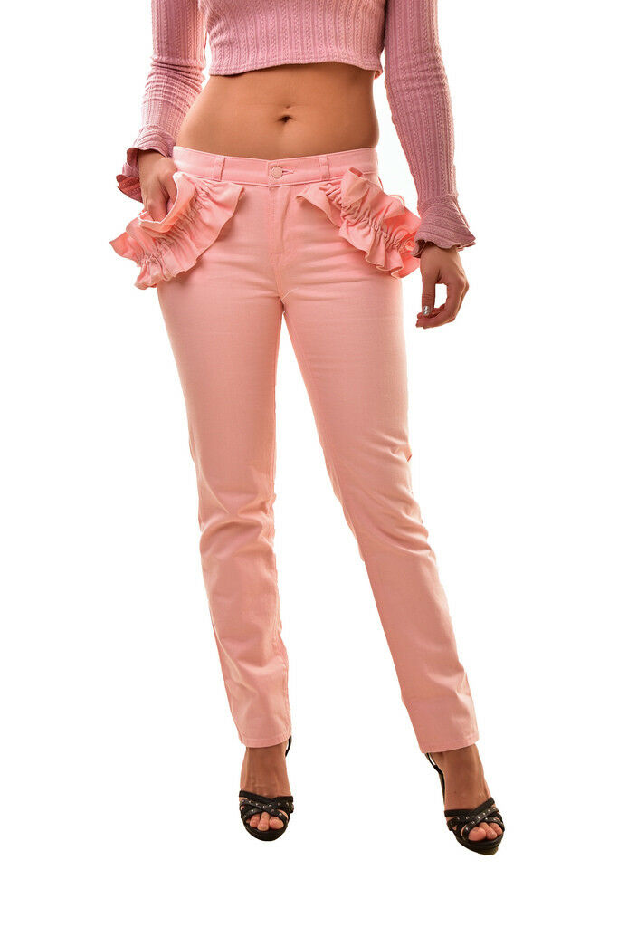 Brand Donna J Simone Rocha SR9033T142 Ruffle Jeans rosa Taglia 23  308 BCF811
