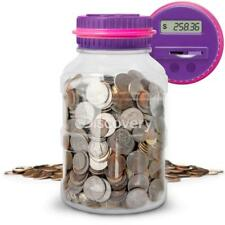 Discovery Kids Digital Coin Counting Money Jar With Lcd Screen Us