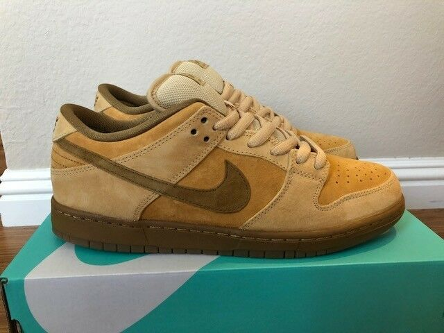 Nike SB Dunk Low Wheat 10.5 supreme loden shark flash forbes pigeon high