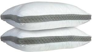 Hypoallergenic-Quilted-2Pack-Queen-King-Neck-Support-Extra-Firm-Gusseted-Pillows