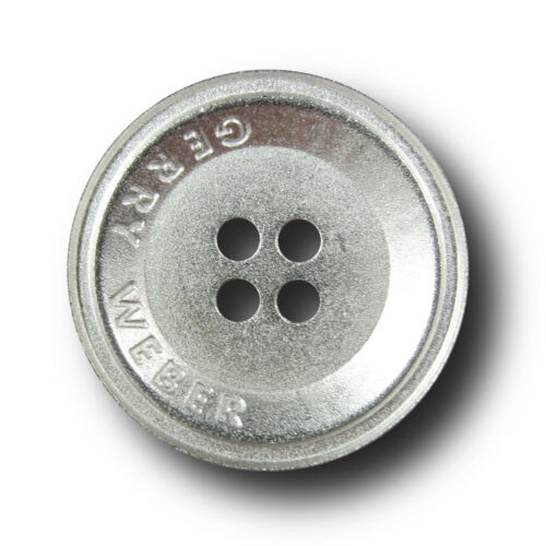 3400si B-WARE 8 günstigere matt silberfarbene Designer Knöpfe aus Metall