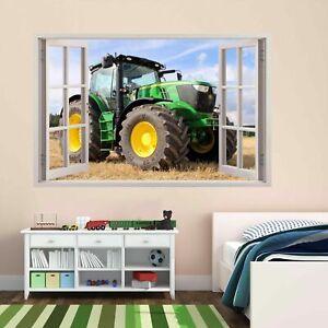 JXND Chambre denfant Chambre denfant v/éhicule agricole Tracteur Sticker Mural Maison Art d/écoration Vinyle Sticker Mural Chambre Autocollant Mural Grande Taille 66x54 cm