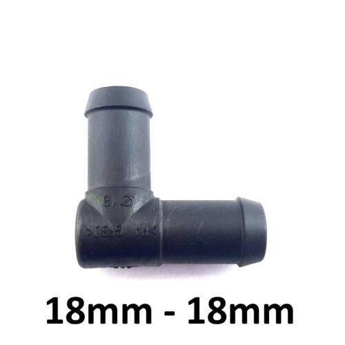 Pièce en L 18-18 mm Raccord Tuyau Connecteur en plastique fer barbelé