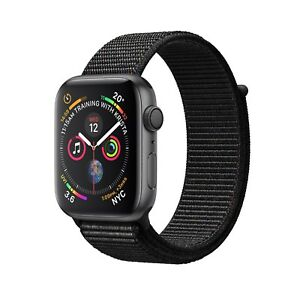 NUEVO-Apple-Watch-Series-4-GPS-44mm-Space-Gray-Aluminium-Black-Sport-Loop-MU6E2