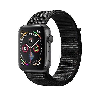 NUEVO Apple Watch Series 4 44mm Space Gray Aluminium Black Sport Loop - MU6E2